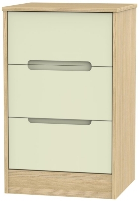 Cream Front and Light Oak Base Unit