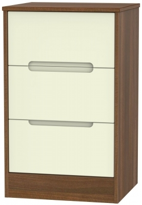 Cream Front and Noche Walnut Base Unit