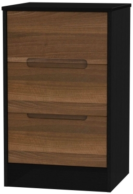 Noche Walnut Front and Black Base Unit