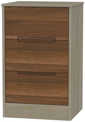 Noche Walnut Front and Darkolino Base Unit