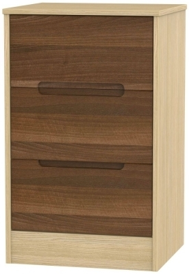 Noche Walnut Front and Light Oak Base Unit