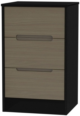 Toronto Walnut Front and Black Base Unit