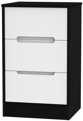 White Front and Black Base Unit