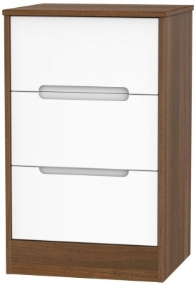 White Front and Noche Walnut Base Unit