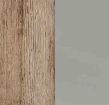 Sanremo Oak Light Carcase and High Polish Soft Grey Front AD007