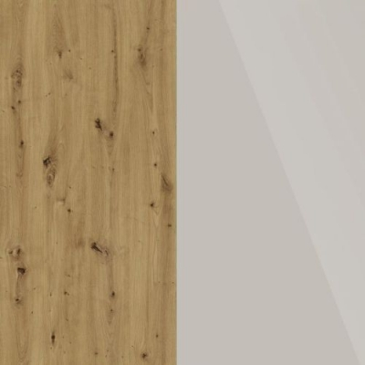 Bianco Oak Frame with Faux Leather Champagne Headboard Cushion 329