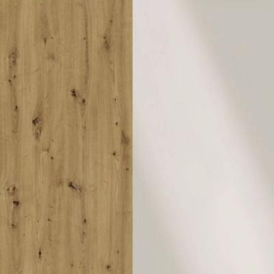 Bianco Oak Frame with Faux Leather Magnolia Headboard Cushion 329