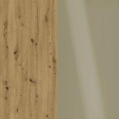 Bianco Oak Frame with Faux Leather Pebble Grey Headboard Cushion 329