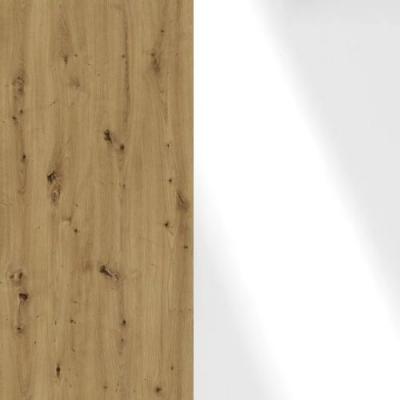 Bianco Oak Frame with Faux Leather White Headboard Cushion 329