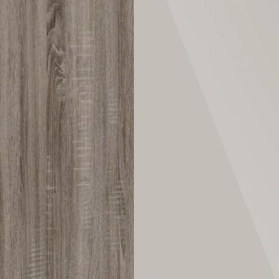 Dark Rustic Oak Frame with Faux Leather Champagne Headboard Cushion 314