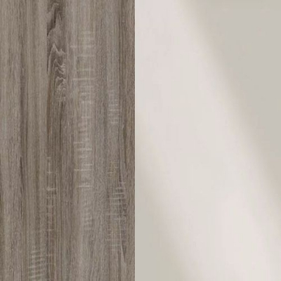 Dark Rustic Oak Frame with Faux Leather Magnolia Headboard Cushion 314