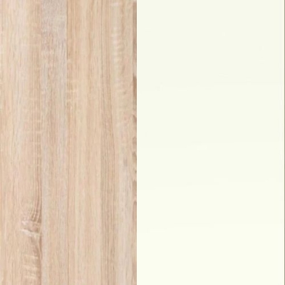 Rustic Oak Carcase and White Front 313-310