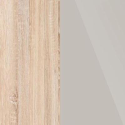 Rustic Oak Frame with Faux Leather Champagne Headboard Cushion 313