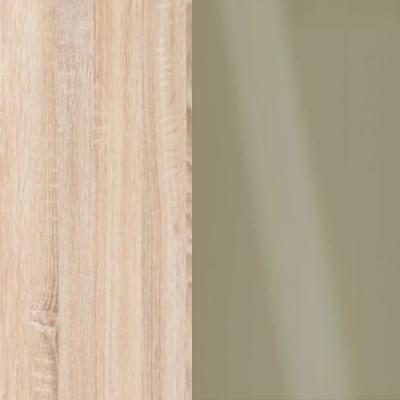 Rustic Oak Frame with Faux Leather Pebble Grey Headboard Cushion 313