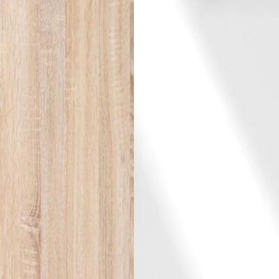 Rustic Oak Frame with Faux Leather White Headboard Cushion 313