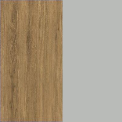 Natural Oak Carcase with Matt Silk Grey Glass Front ZK489