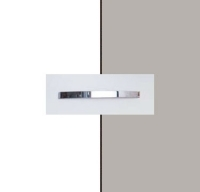 Rauch Aditio Alpine White Carcase with High Polish Soft Grey Front and Aluminium Color Handle No1 AA42B