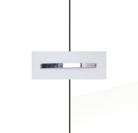 Rauch Aditio Alpine White Carcase with High Polish White Front and Aluminium Color Handle No1 A980B