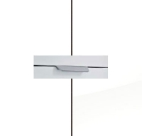 Rauch Aditio Alpine White Carcase with High Polish White Front and Aluminium Color Handle No2 A980L