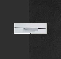Rauch Aditio Metallic Grey Carcase with High Polish Effect Grey Front and Aluminium Color Handle No2 AD75L