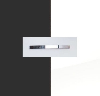 Rauch Aditio Metallic Grey Carcase with High Polish White Front and Aluminium Color Handle No1 A880B