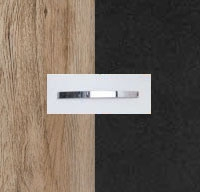 Rauch Aditio Sanremo Oak Light Carcase with High Polish Effect Grey Front and Aluminium Color Handle No1 AD72B