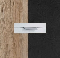 Rauch Aditio Sanremo Oak Light Carcase with High Polish Effect Grey Front and Aluminium Color Handle No2 AD72L