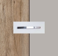 Rauch Aditio Sanremo Oak Light Carcase with High Polish Soft Grey Front and Aluminium Color Handle No1 AA40B