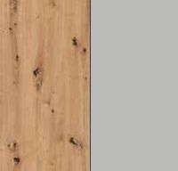 Rauch Erimo Artisan Oak Carcase with Silk Grey Glass Front A313B