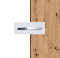 Rauch Quadra Alpine White Carcase with Aritsan Oak Front and Chrome Color Handle No1 AD65D