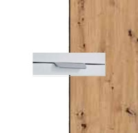 Rauch Quadra Alpine White Carcase with Aritsan Oak Front and Chrome Color Handle No2 AD65R