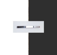 Rauch Quadra Alpine White Carcase with Metallic Grey Front and Chrome Color Handle No1 A973D