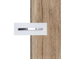 Rauch Quadra Alpine White Carcase with Sanremo Oak LIght Front and Chrome Color Handle No1 AA10D