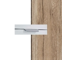 Rauch Quadra Alpine White Carcase with Sanremo Oak LIght Front and Chrome Color Handle No2 AA10R