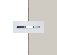 Rauch Quadra Alpine White Carcase with Silk Grey Front and Aluminium Color Handle No1 AA11B