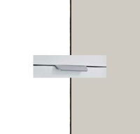 Rauch Quadra Alpine White Carcase with Silk Grey Front and Aluminium Color Handle No2 AA11L