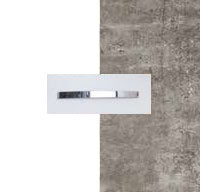 Rauch Quadra Alpine White Carcase with Stone Grey Front and Aluminium Color Handle No1 AA12B