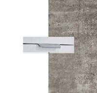 Rauch Quadra Alpine White Carcase with Stone Grey Front and Aluminium Color Handle No2 AA12L