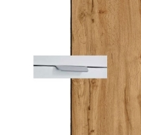 Rauch Quadra Alpine White Carcase with Wotan Oak Front and Chrome Color Handle No2 AA09R