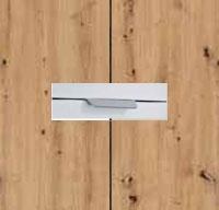 Rauch Quadra Aritsan Oak Carcase and Front with Aluminium Color Handle No2 AD64L