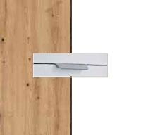 Rauch Quadra Aritsan Oak Carcase with Alpine White Front and Aluminium Color Handle No2 AD61L