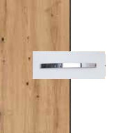 Rauch Quadra Aritsan Oak Carcase with Alpine White Front and Chrome Color Handle No1 AD61D