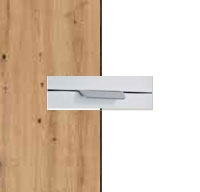 Rauch Quadra Aritsan Oak Carcase with Alpine White Front and Chrome Color Handle No2 AD61R