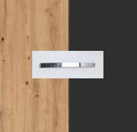 Rauch Quadra Aritsan Oak Carcase with Metallic Grey Front and Chrome Color Handle No1 AD60D