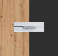 Rauch Quadra Aritsan Oak Carcase with Metallic Grey Front and Chrome Color Handle No2 AD60R