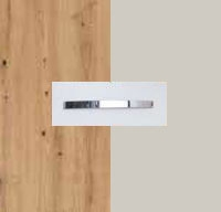 Rauch Quadra Aritsan Oak Carcase with Silk Grey Front and Aluminium Color Handle No1 AD62B