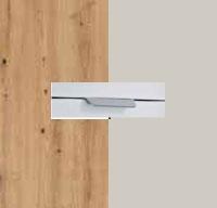Rauch Quadra Aritsan Oak Carcase with Silk Grey Front and Aluminium Color Handle No2 AD62L