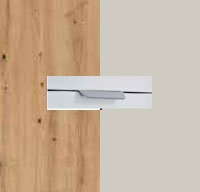 Rauch Quadra Aritsan Oak Carcase with Silk Grey Front and Chrome Color Handle No2 AD62R