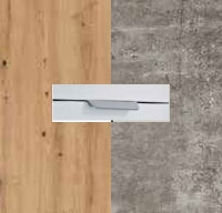 Rauch Quadra Aritsan Oak Carcase with Stone Grey Front and Aluminium Color Handle No2 AD63L