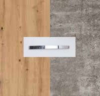 Rauch Quadra Aritsan Oak Carcase with Stone Grey Front and Chrome Color Handle No1 AD63D